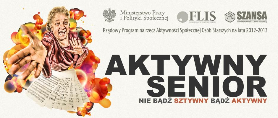 Grafika promująca projekt Aktywny Senior