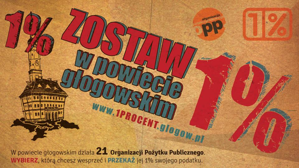 Ilustracja artykułu: Kampania społeczna Zostaw 1% w powiecie głgowskim 2015 Głogów Fundacja FLIS
