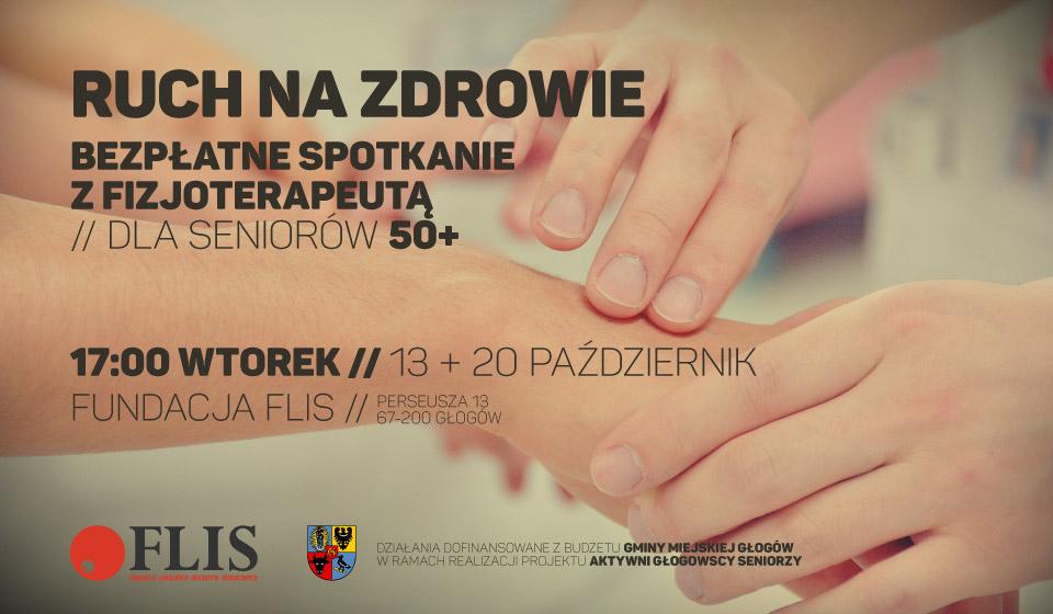 FLIS Głogów - Głogowscy Aktywni Seniorzy - spotkanie z fizjoterapeutą