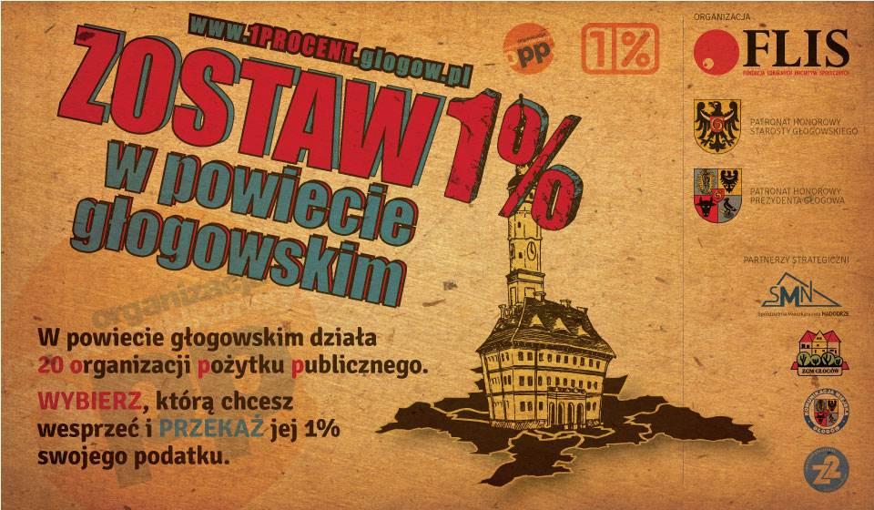 Ilustracja artykułu: Kampania społeczna Zostaw 1% w powiecie głgowskim 2016 Głogów Fundacja FLIS