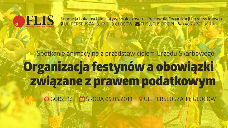 FLIS NGO Głogów Spotkanie animacyjne NGO – Organizacja festynów a podatki