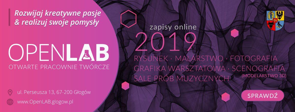 OpenLAB Głogów baner promujący ofertę 2019